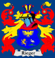 Rieger Family Crest Rt Hon. Guenter Alfred Rieger